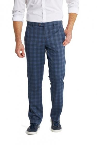 W. Wegener Eton 5516 MODRÉ Pánské kalhoty