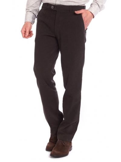 W. Wegener Eton 6530 tmavě hnědá Pánské kalhoty